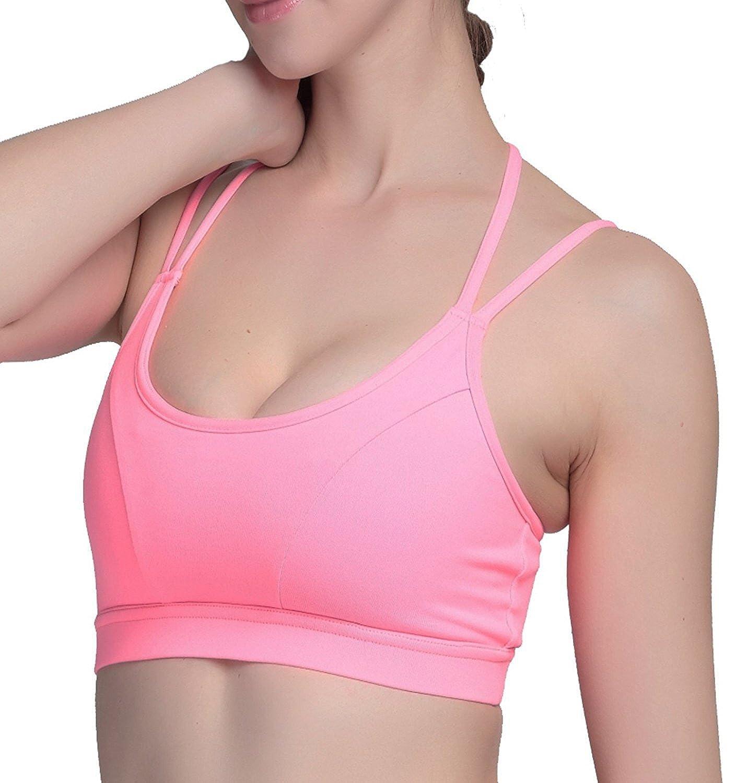 e55718823eab80 Women s Sexy Strappys Seamless Yoga Sports Bra at Amazon Women s Clothing  store