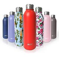 ANSIO waterfles, vacuüm fles & roestvrij staal waterfles dubbele ommuurde geïsoleerde dranken fles warm & koud BPA gratis outdoor sport camping wandelen fietsen - 500ML- levenslange garantie