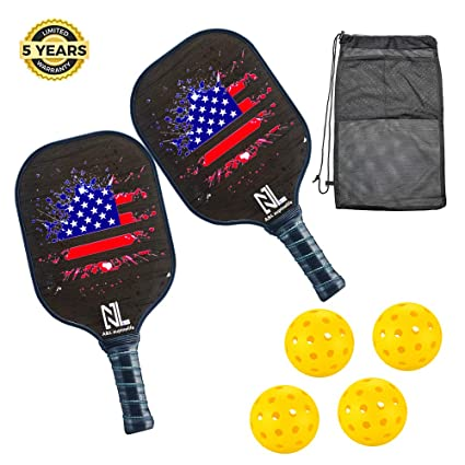 A&L Pickleball Paddle, Best Pickleball Paddles Set, Premium Lightweight Graphite Pickleball Racket Polypro Honeycomb Composite Core. with Ultra ...
