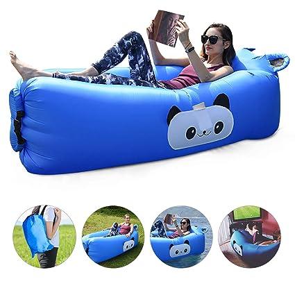 Amazon.com: Sofá inflable de FOCHEA, sofá de aire portátil ...