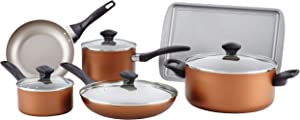 Faberware Copper FARBERWARE Dishwasher Safe NONSTICK 11pce cookware, Tools and bakware Set