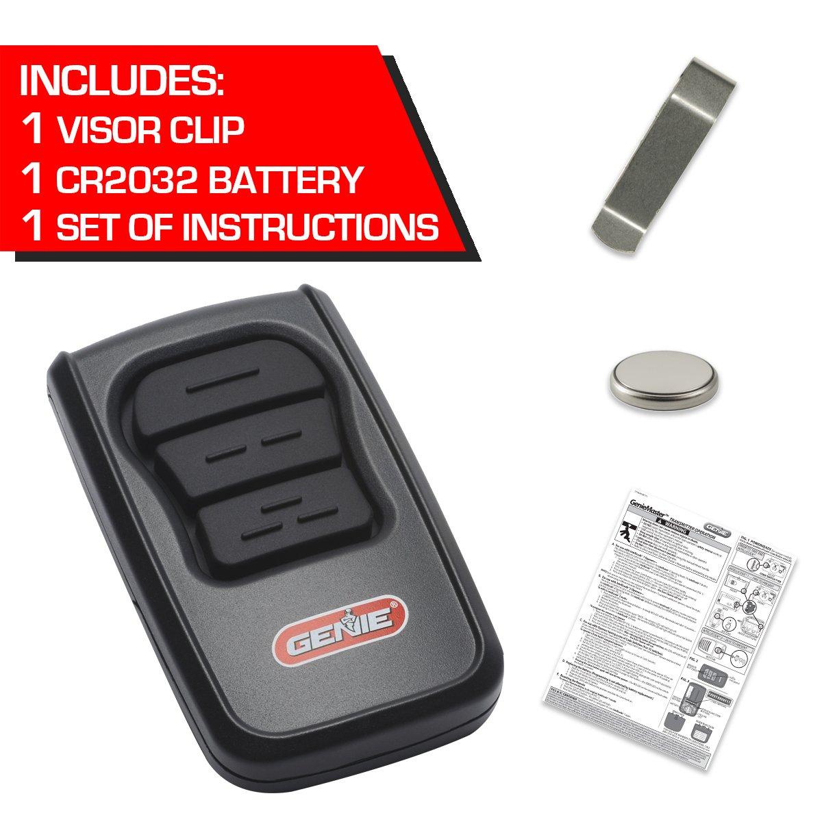 genie master 3 button remote for controlling up to 3 genie garage rh amazon com Genie GT912 Remote Genie Cryptar II Remote Control