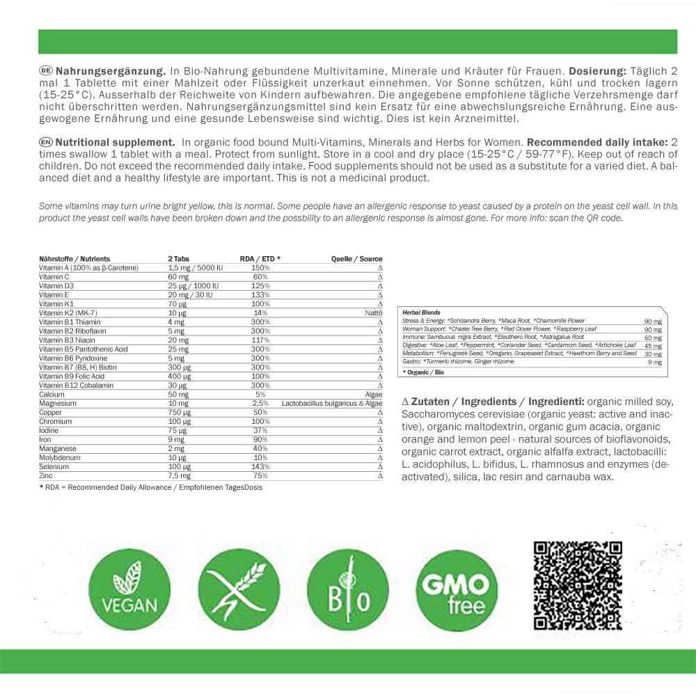 MultiVita-HER 1310mg Multivitaminas Minerales para Mujeres ...