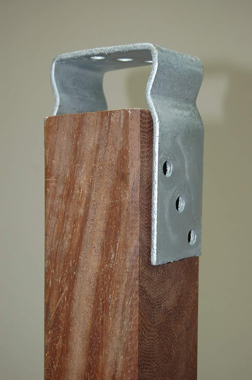 Pfostentr/äger mit Sicke//Wulst zum Aufd/übeln feuerverzinkt f/ür Holzpfosten 12 cm HDH