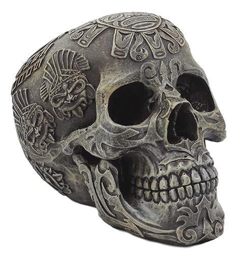Ebros Mesoamericano Maya Azteca Estatua de Calavera 12,7 cm de ...