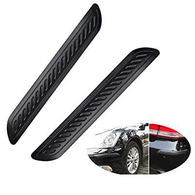 Wittyware Car Bumper Guard Strips Rubber Anti-Scratch for Car SUV Pickup Truck Car Bumper Protector, 2 Packs(black): Automotive
