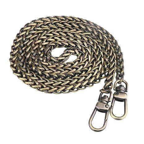 BQLZR Metal correa de cadena hombro Crossbody bolso de mano bolsa bolso de mano DIY reparación de repuesto, marrón