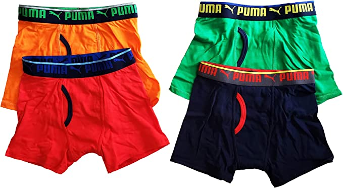 Lengua macarrónica Documento Nathaniel Ward  Amazon.com: PUMA - Boys 95% Cotton Boxer Briefs Underwear, 4 Pack (Set 1,  Age 16 to 18): Clothing