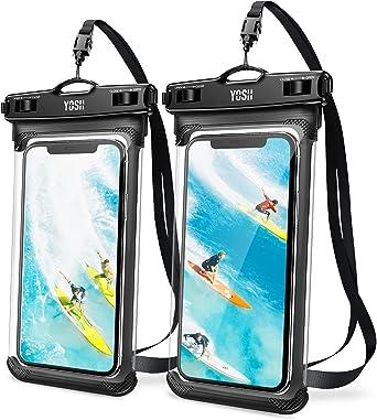 YOSH IPX8 Funda Impermeable Móvil 2 Unidades, Bolsa para Móvil Estanca a Prueba de Agua para iPhone 12 Pro MAX 11 XR X Galaxy Note 20 S21 Xiaomi Poco ...