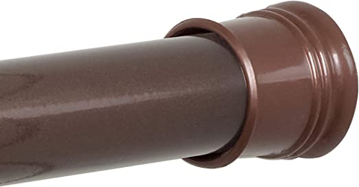 Tension Shower Curtain Rod 43 to 72-Inch Oil Rubbed Chip Rust Resistant Finish