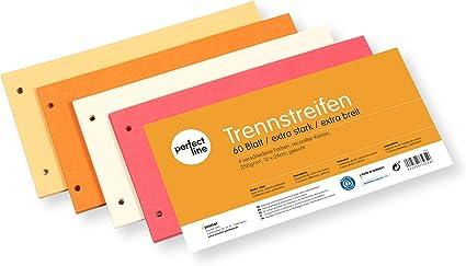 Trennstreifen Trennblätter Leitz DIN A4 Ordner farbig bunt 24 x 10,5 gelocht Neu