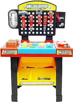 Juego de Mesa de Trabajo para niños con Accesorios, camión de Juguete y Sonidos realistas. por Inside out Toys®.: Amazon.es: Juguetes y juegos