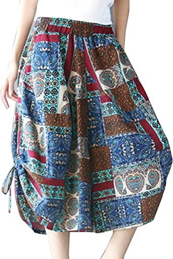 Elegantes Bonita Mujer Pantalones Falda Primavera Verano Bolsillos ...