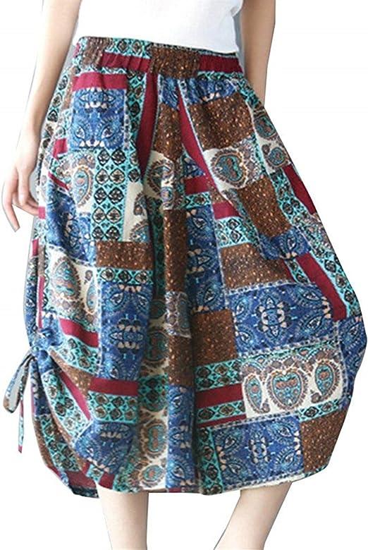 Elegantes Bonita Mujer Pantalones Falda Primavera Verano ...