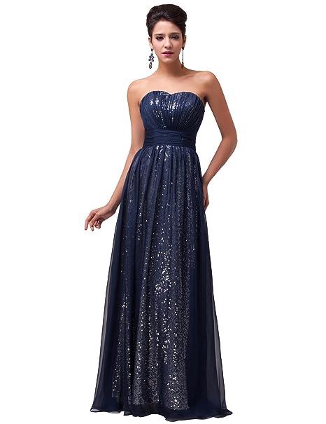 Quissmoda vestido corto largo fiesta, noche, gala, talla 34, color azul