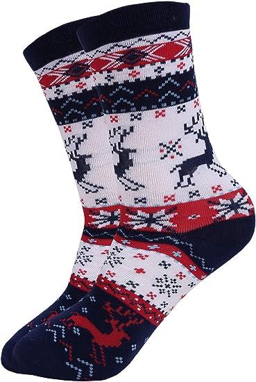 Snowmen 4 Pairs of Novelty Unisex Adult Christmas Socks One Size Santas