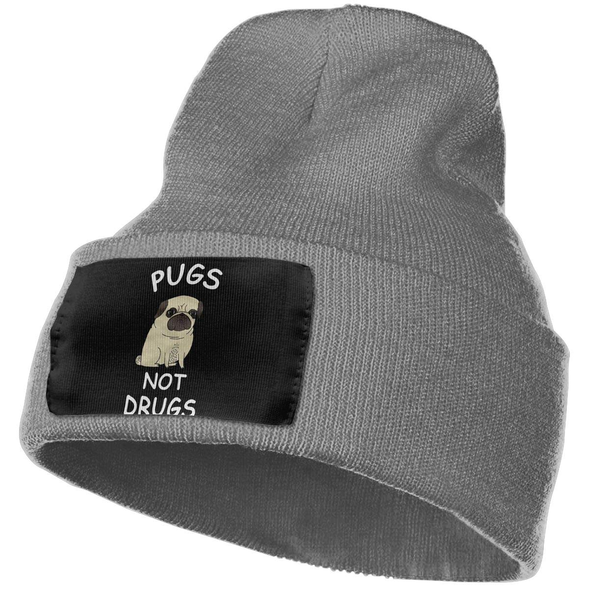 SLADDD1 Pug Dog Warm Winter Hat Knit Beanie Skull Cap Cuff Beanie Hat Winter Hats for Men /& Women