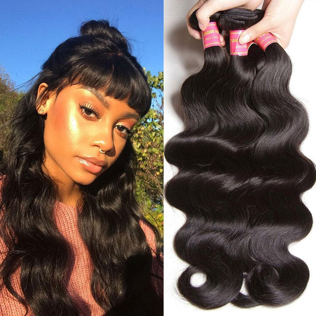 Amazon Klaiyi 10a Brazilian Virgin Body Wave Hair 3 Bundles