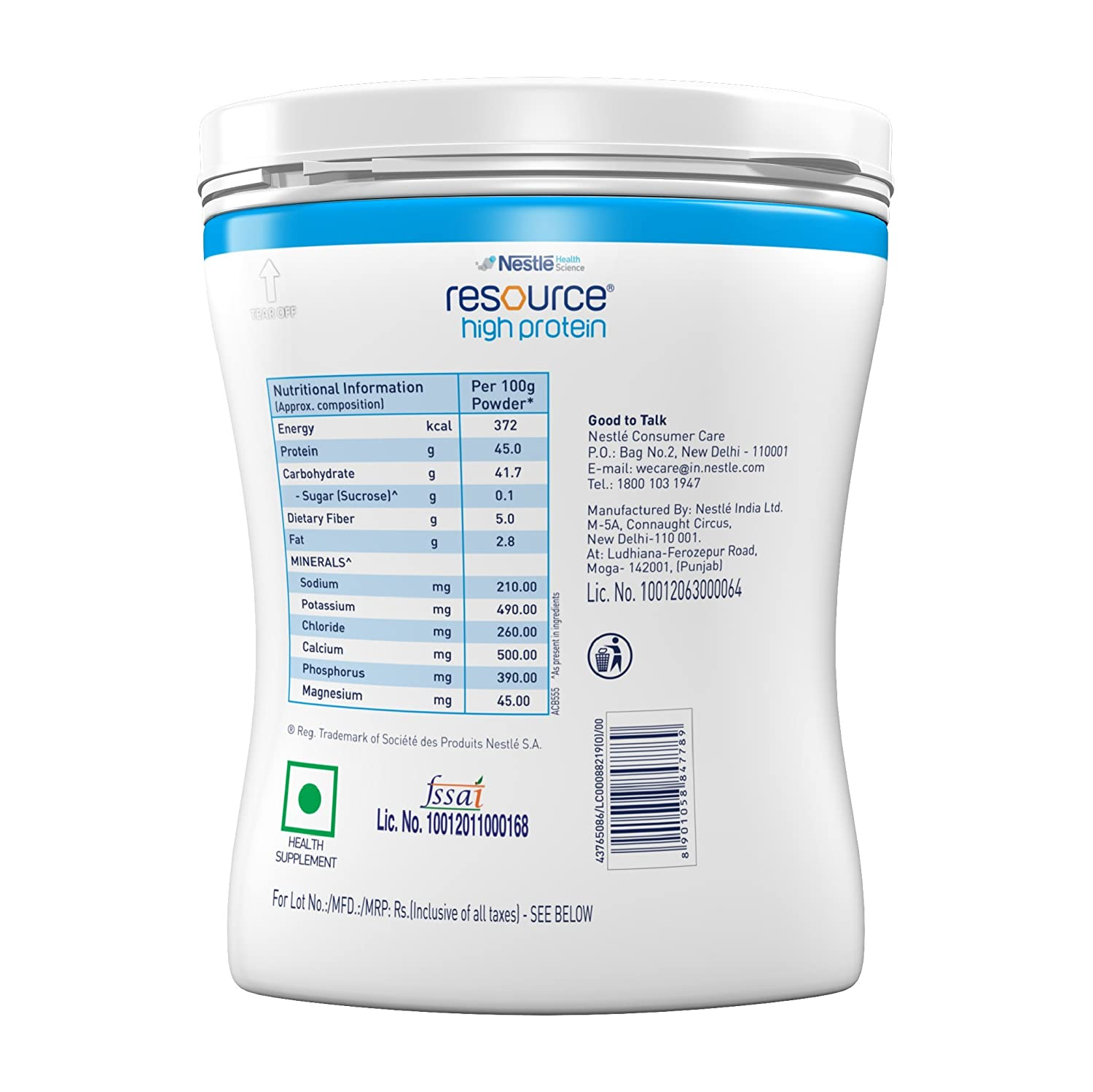 Buy Nestle Resource High Protein 400g Tin Vanilla Flavor Online Pediasure Complete 400 Gr At Low Prices In India