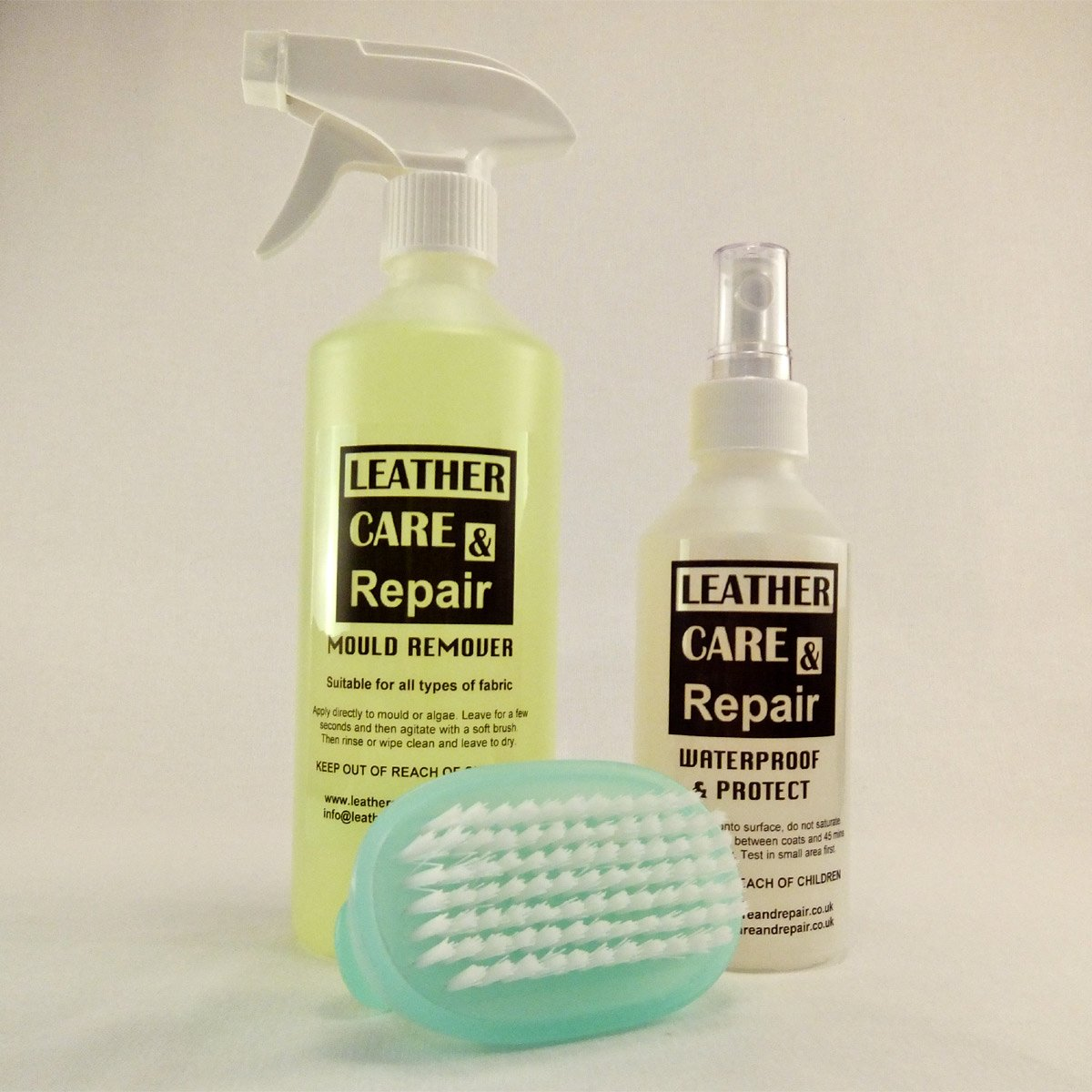 Leather Care & Repair Mould Cleaner & Protect Kit - Convertible Canvas Hood/Soft Top Fabric Roof