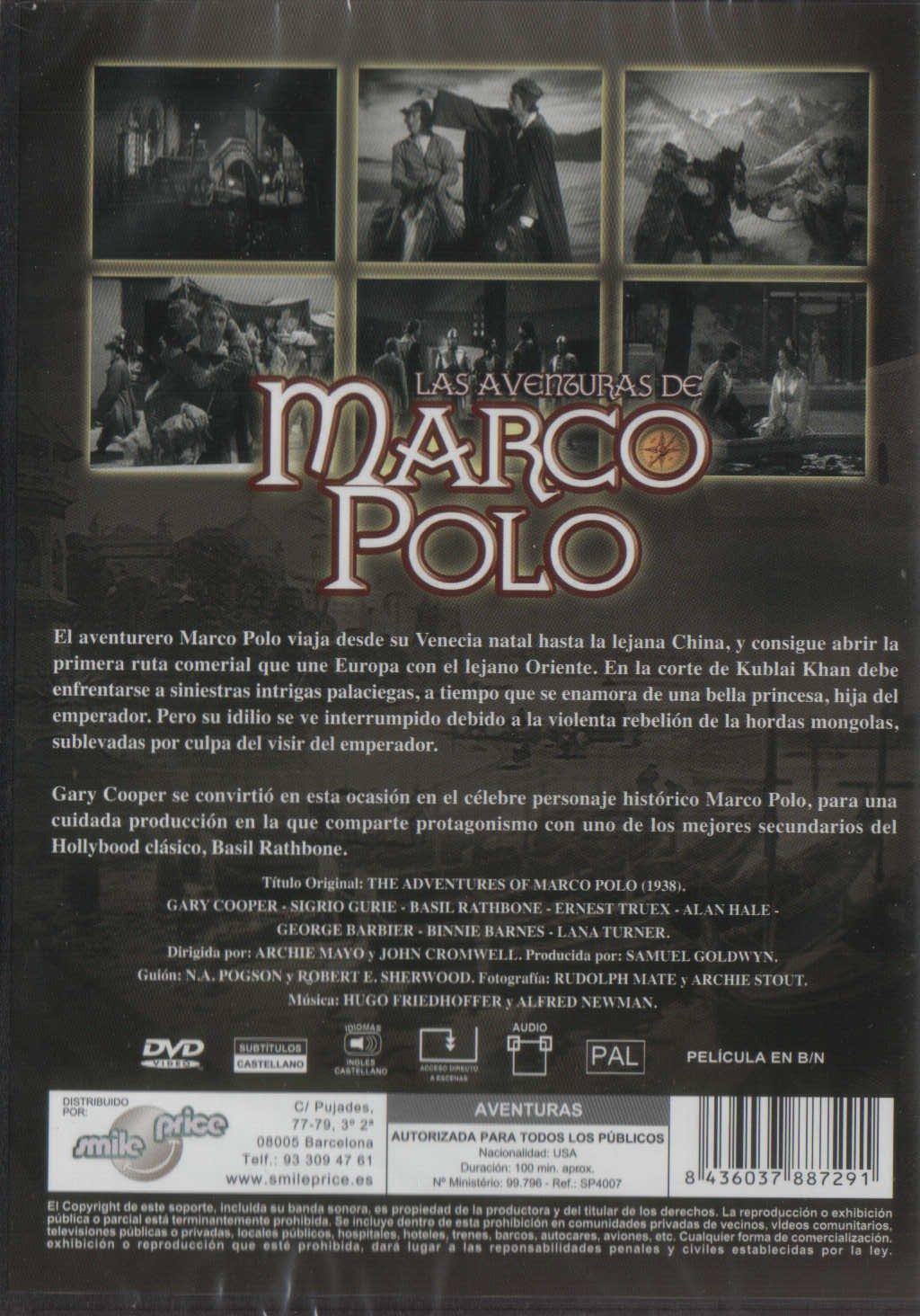 Las Aventuras De Marco Polo The Adventures Of Marco Polo 1938 ...