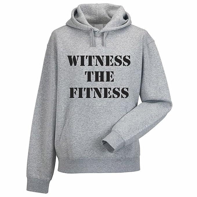 Testigo La Fitness - Sudadera para hombre con capucha diseño de ejercicio/deporte/entrenamiento/novedad/sudaderas multicolor gris XL: Amazon.es: Ropa y ...