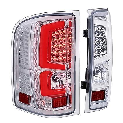 C-Streak Red Chrome LED Taillight Stop Lamp For 07-13 Silverado 1500 2500 3500