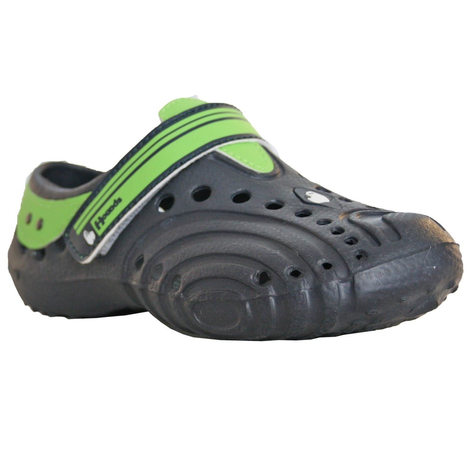DAWGS Hounds Kids Ultralite Waterproof Shoes, Navy with Lime Green, 13-1