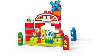 821dbc87f7a Mega Bloks Granja Musical, juguete de construcción para bebé +1 año (Mattel  GCT50