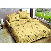 Reliable Trends Self Design Polycotton Queen Size Elastic Fitted Bedsheets