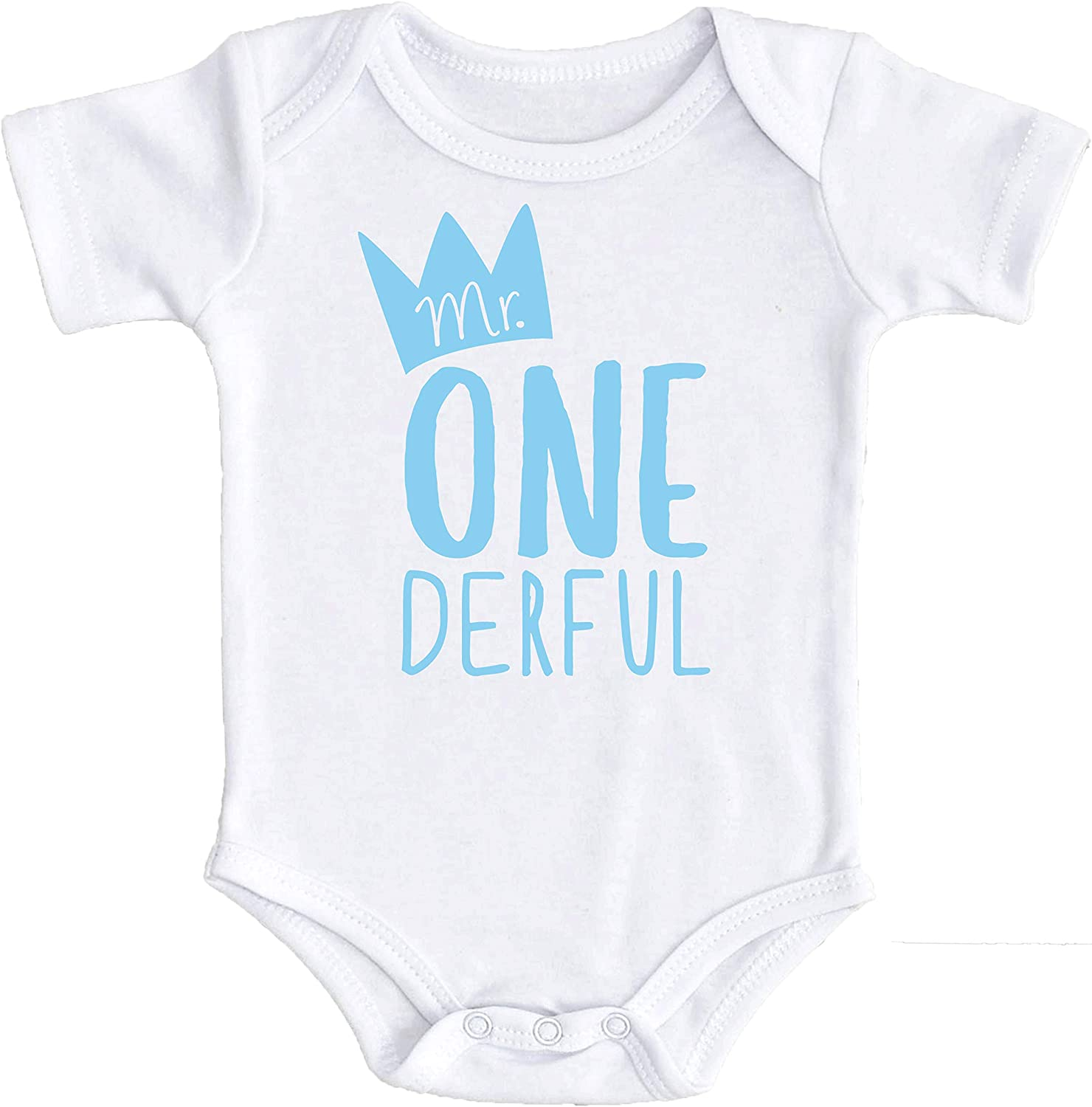 Mr One-Derful Baby Boys 1st Birthday Outfit First Birthday Bodysuit for Boys 1st Birthday Mr. Onederful