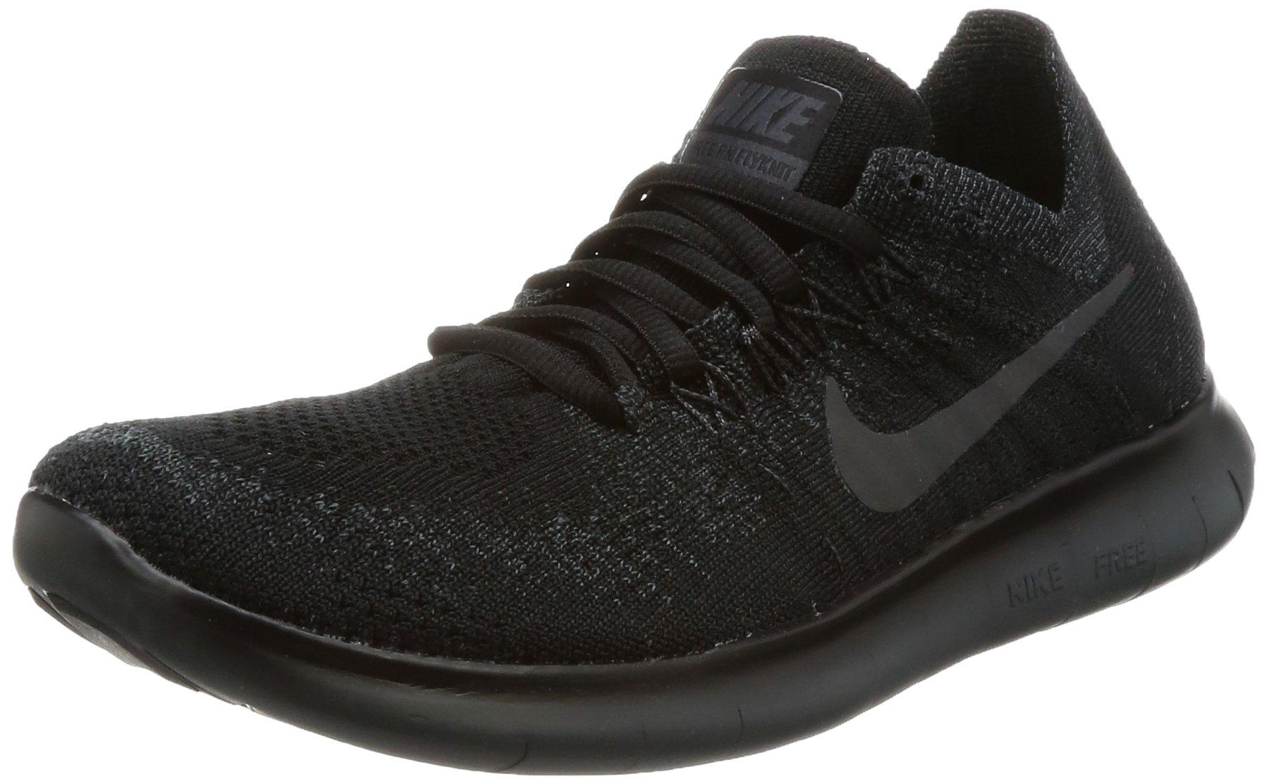 Nike Women's Free RN Flyknit 2017 Running Shoe BlackAnthracite Anthracite 7.5
