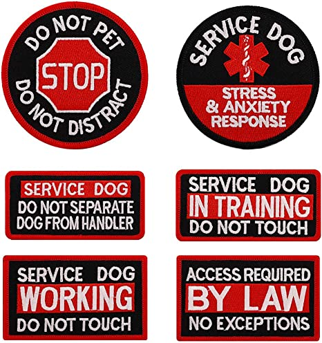 Service Dog Patch Embroidered Patch Iron On Applique Sew On Patch Dog Patch Iron On Patch Custom Dog Patch Do Not Pet Patch
