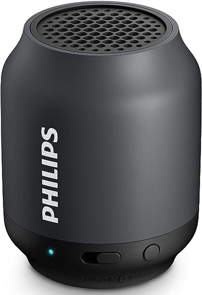 Renewed  Philips BT50B Portable Wireless Bluetooth Speaker, Black Speakers