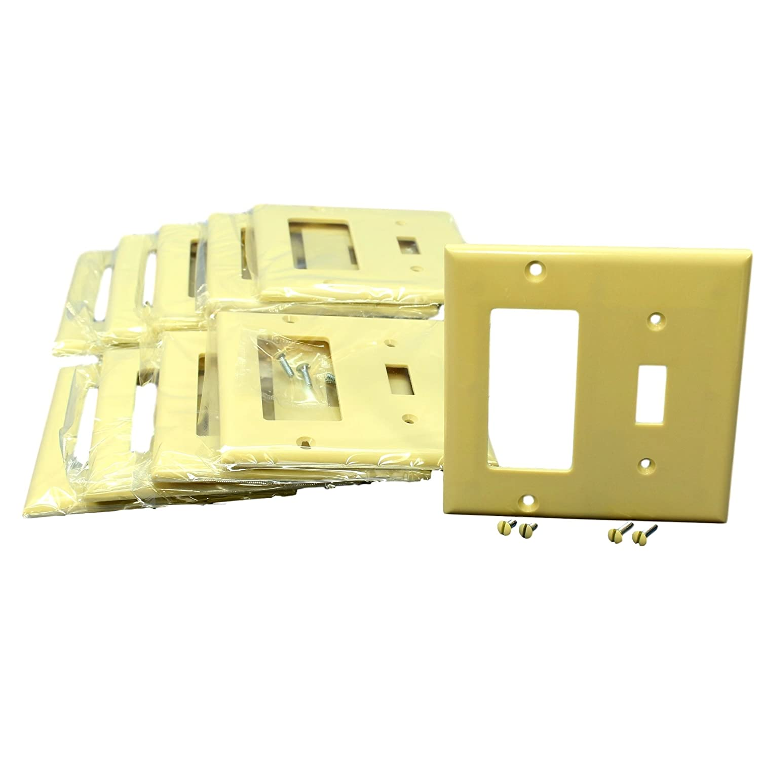 Cooper 2153V Ivory Two Gang One Toggle One Decorator Combination ...