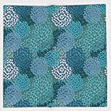 Cotton Microfiber Hand Towel,Floral,Abstract Clove Petals Digital Featured Vibrant Circular Essence Bouquet Design Decorative,Petrol Blue Teal,for Kids, Teens, and Adults,One Side Printing
