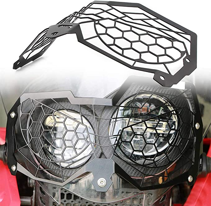 Light Protector Car Light Grille Cover Set Fit for Tiger 900//Rally//Rally Pro//GT//GT PRO 2020‑2021 Akozon Motorcycle Headlight Guard