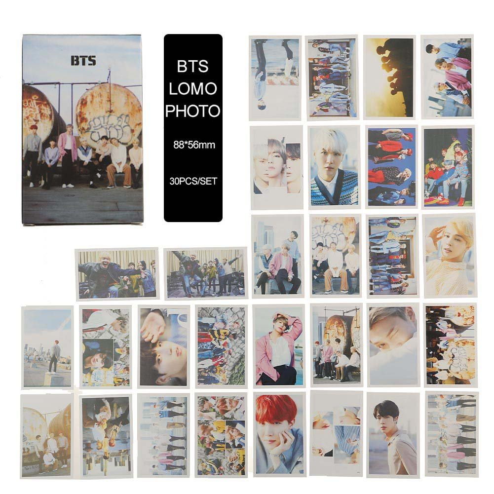 Lot de 30 cartes BTS Yovvin avec photos - KPOP BTS/EXO/GOT7/NCT/BIG BANG/TWICE/SEVENTEEN/WANNA ONE - Comme carte avec photo, pour votre collection - Le meilleur cadeau pour les fans The ARMY et de The Fans 8.8 x 5.6 CM JUNGKOOK
