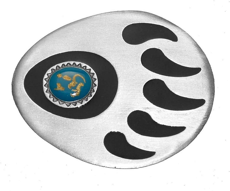 Bear Paw Pattern Oval Belt Buckle Men Western Native American Belt Buckles