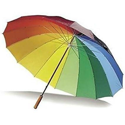Diseño grande portero paraguas de golf paraguas buntmetall arco iris sombrilla paraguas para toda la familia