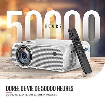 bomaker 3600 lumens - Proyector, portátil HD 1280/720P proyector ...