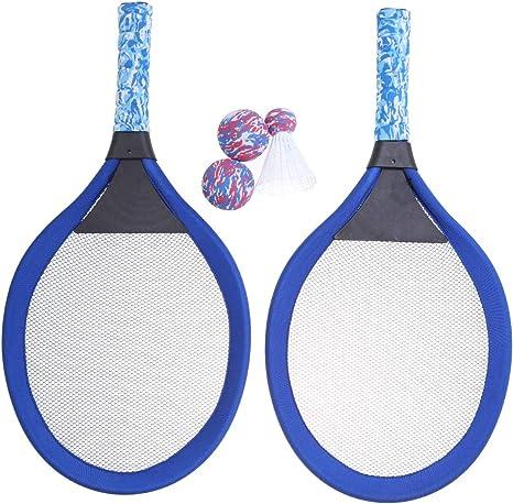 LIOOBO Raquetas de Tenis de bádminton de Playa y Juego de Pelota ...