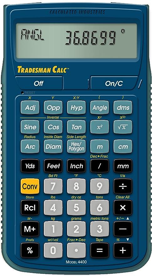 Amazon Calculated Industries 4400 Tradesman Calc Trades Math