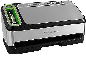 Foodsaver V4880 Fully Automatic Vacuum Sealing System Bonus: Handheld Sealer, Freshsaver Container, Wine Stopper (standard)
