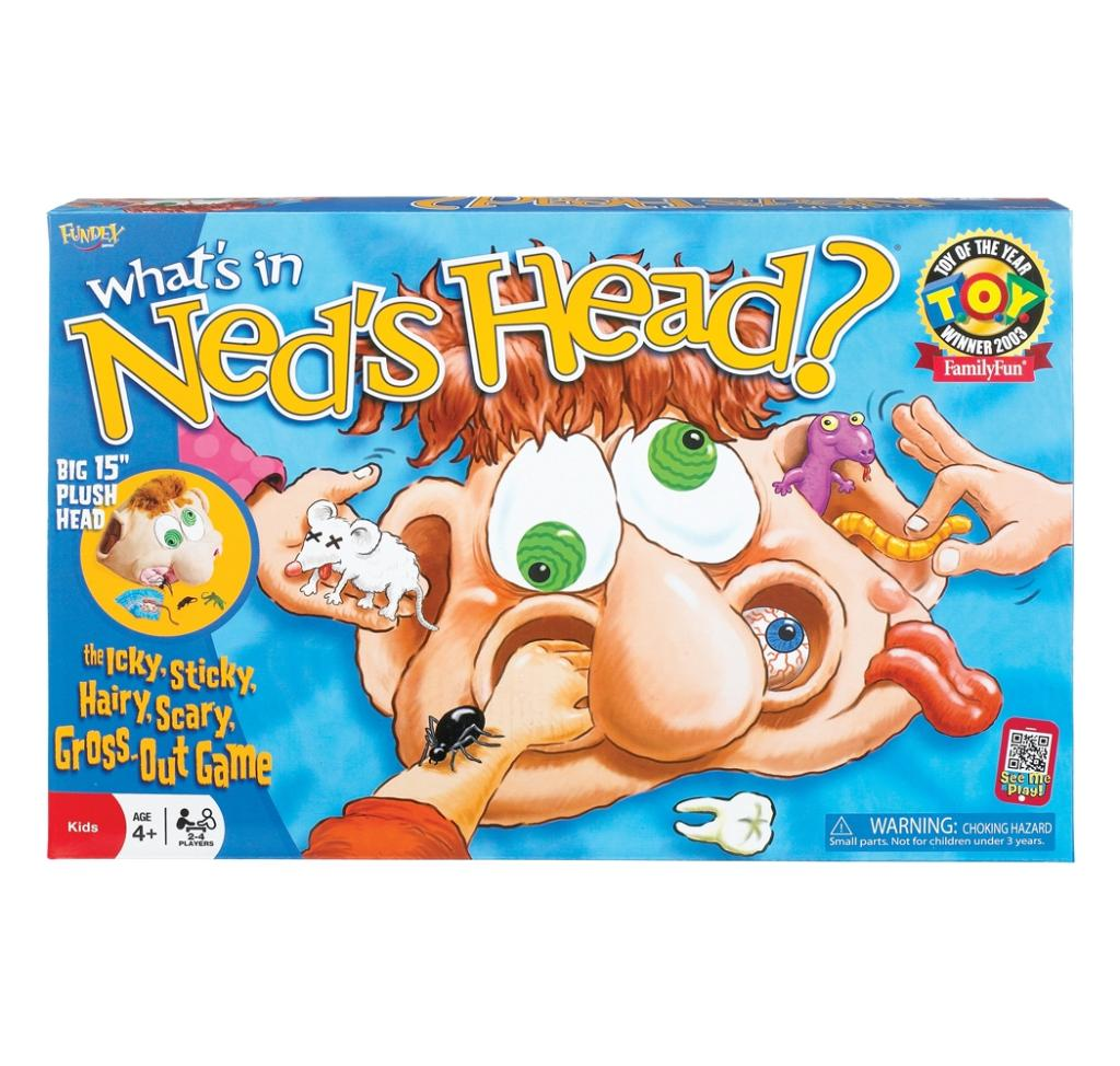 This game includes a big 15-inch plush head filled with various things