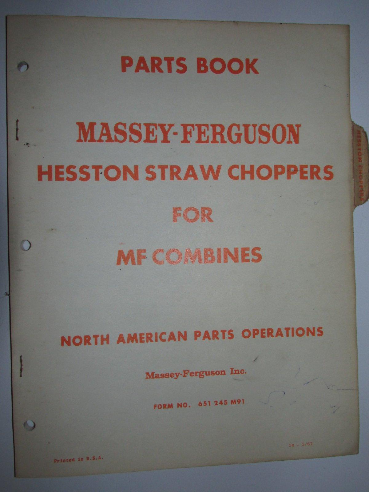 Massey Ferguson Hesston Straw Choppers for MF Combines Parts