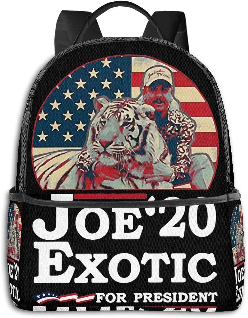 The Tiger King Joe Exotic Water Resistant Casual Daypack Laptop Backpack for Women//Girls//Business//Travel Comfortable and Convenient