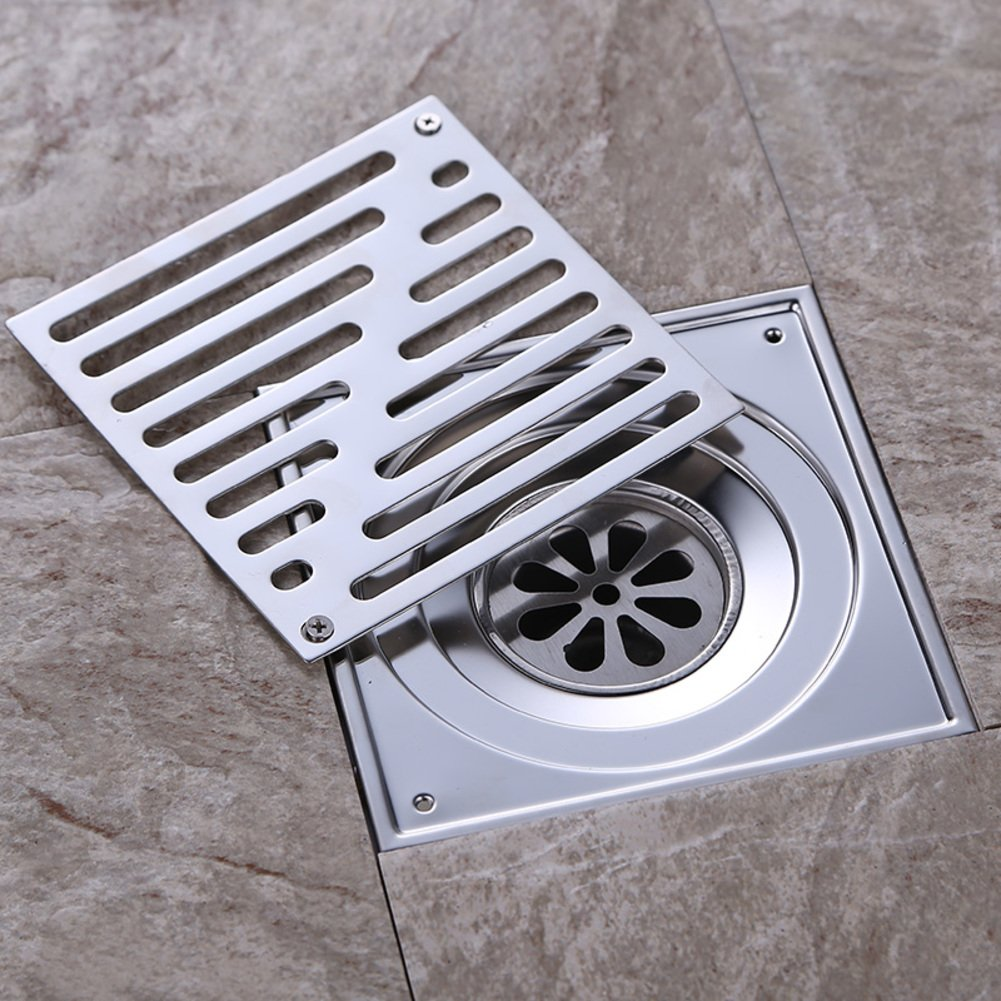 Balcony Anti-insect Floor Drain Stainless Steel Anti-odor Floor Drain Core Cover Bathroom Bathroom Square Floor Drain GEWRE