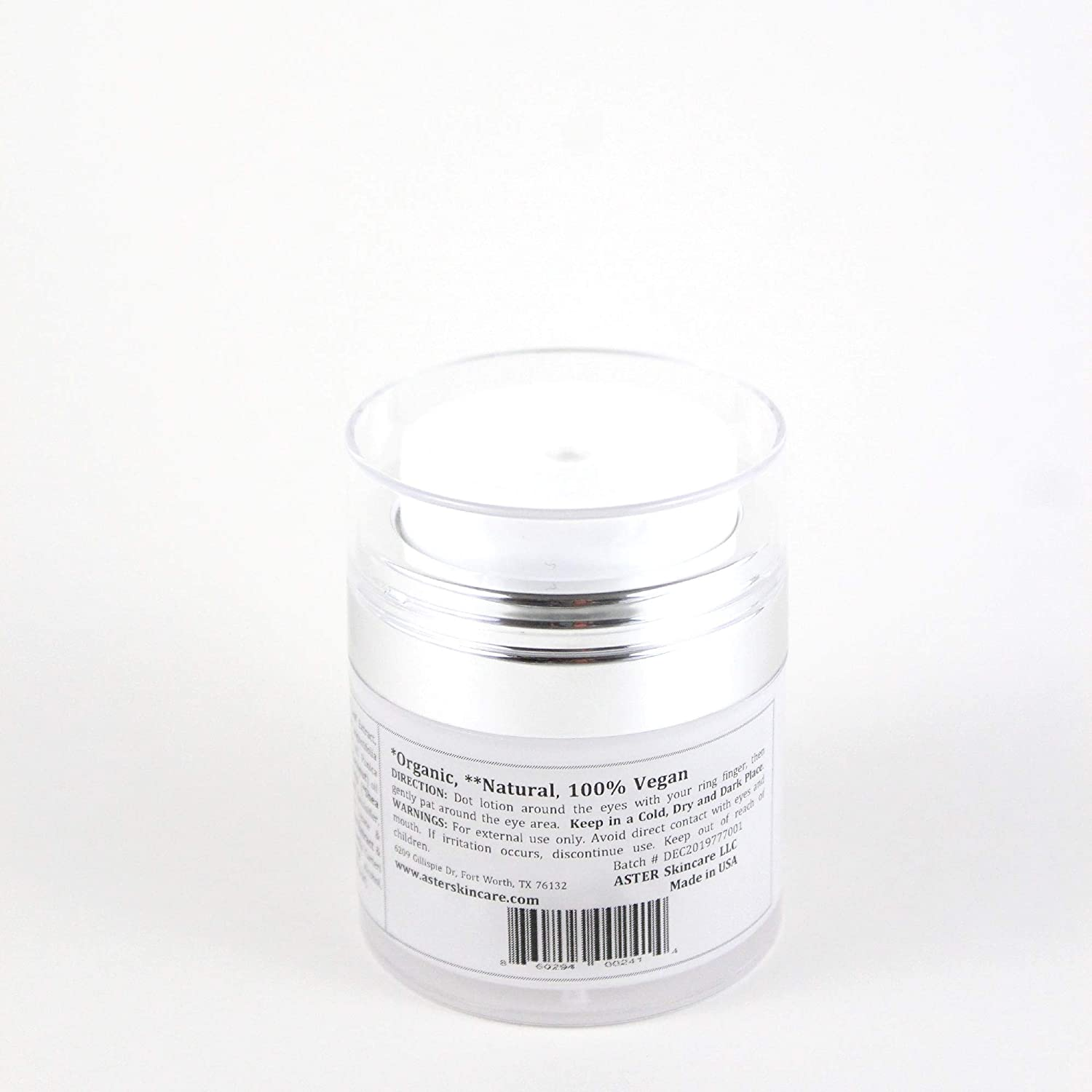 Aster Skincare Hydrating Firming Eye Day Cream with Probiotics Caffeine