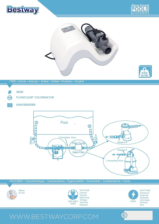 Clorador Salino Bestway Flowclear Chlorinator